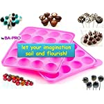 BA-PRO JNXD-119, 20-Cavity Ball Shape Baking Mold, Muffins Cupcakes Cookware Silicone Set, Best for Brownies, Pies, Lollipops, Candies, Jelly and Chocolate, Ice Cream Tray, 228/186/40mm (L/W/H), Pink 18 BAKING EXPERIENCE with ZERO FRUSTRATION It's Humongous: a Multi-Use Cookware of Sturdy yet Flexible Double Tray Cupcake Pan that Will Carry All Baking Endeavors with Embarrassing Ease and Effortless Comfort. Elegant Shape, Available Here in Our USA Stock