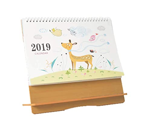 Amazon Com Wooden Desk Calendar Can Be Used As A Mobile Phone