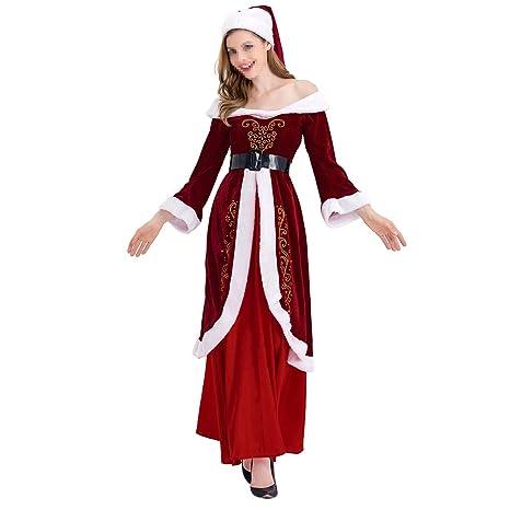 BESTOYARD Conjunto de Disfraz de Papa Noel para Mujer Tamaño ...