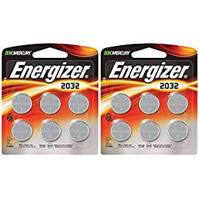 Energizer 2032 pYByr Battery, 6 Count (2 Pack)