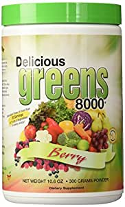 Greens World Delicious Greens 8000 Berry -- 10.6 oz
