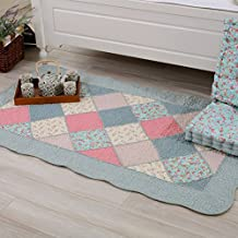 Floral Cotton Area Door Mat Floor Rug Runner Seat Sofa Cushion LivebyCare Doormat Entry Decor Front Entrance Indoor Outdoor Mats Chair Couch Cushions for Decor Decorative Boys Girls Bedroom