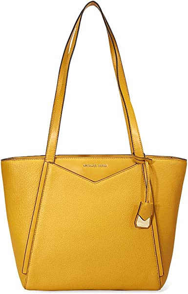 eabd888fa7b5 Michael Kors Whitney Small Pebbled Leather Tote (Marigold)  Handbags ...