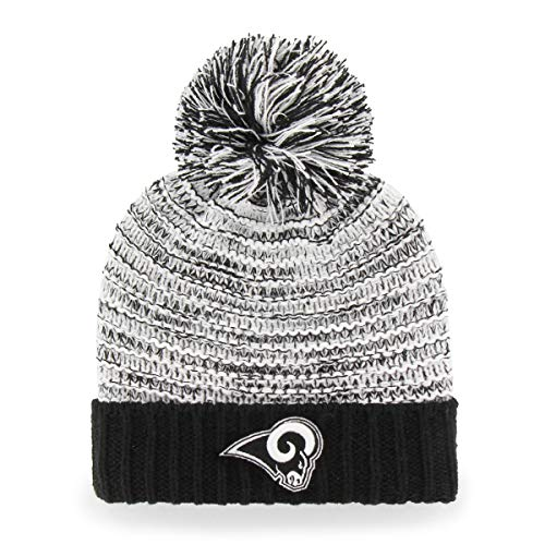 OTS NFL Los Angeles Rams Women's Sansa Cuff Knit Cap, Black, Women's