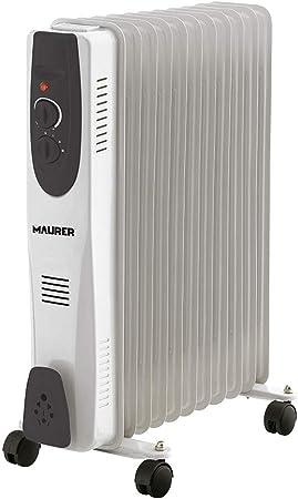 Maurer 22040015 Radiador Aceite 2500w 11 Elementos: Amazon.es: Hogar