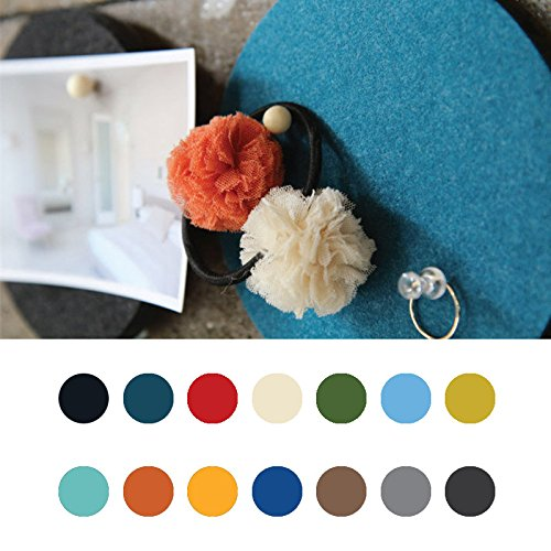 Wall Art - Honana Dx-172 1pcs Creative Roundness Colorful Wool Felt Multifunctional Wall Sticker Smart Collect Board - Felt Board Hexagon Round Stickers Sticker Pads Wool Wall