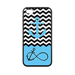 Black White Chevron Navy Blue Anchor Infinity Anchor Sign Symbol iPhone 5c Case Back Cover