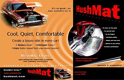 HushMat 10500 Ultra Black Foil Bulk Kit with Damping Pad - 30 Piece by Hushmat