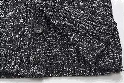 (ミドセ)ショールカラー ケーブルニット タイト セーター メンズ アウター ジャケット パーカー ボタン付き