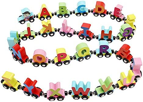 Girl Toy Wood Name Train Set Gift any 7 Letters Numbers Wooden Engine /& Carriage