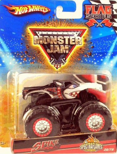 2010 Hot Wheels Monster Jam #28/75 Flag Series *SPECTRAFLAMES* Official Monster Truck Series SPIKE UNLEASHED 1:64 Scale