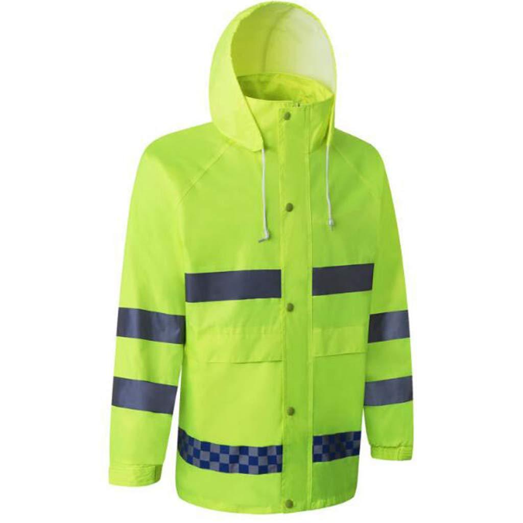 Flameer Reflective Raincoat Waterproof Rainwear Hood Jacket Outdoor Coat Pants Zipper Design - XXL by Flameer (Image #9)