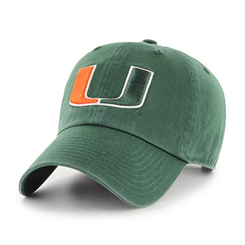OTS NCAA Adult Women's Challenger Adjustable Hat Miami Hurricanes, One Size, Dark Green ()