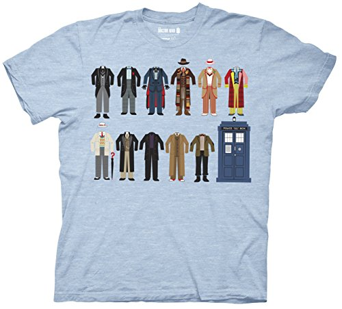 Doctor Who Doctor Outfits with TARDIS Men's T-shirt (Large) (Doctor Outfit)
