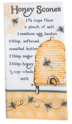 (Kay Dee Designs Cotton Recipe Flour Square Sack Towel, 27-Inch, Honey Scones)