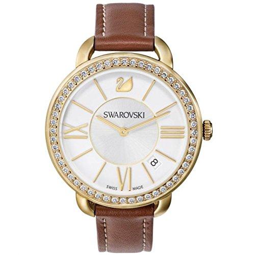 Swarovski Reloj analogico para Mujer de Cuarzo con Correa en Piel 5095940: Amazon.es: Relojes