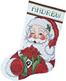 pattern maker for cross stitch - Tobin 14 Count Winking Santa Stocking Counted Cross Stitch Kit, 17-Inch Long