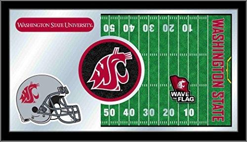 Holland Bar Stool Company NCAA Washington State Cougars 15 x 26-Inch Football Mirror