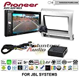 Volunteer Audio Pioneeer AVIC-6201NEX Double Din Radio Install Kit with GPS Navigation Apple CarPlay Android Auto Fits 2005-2011 Toyota Tacoma with Amplified System (Light Silver)