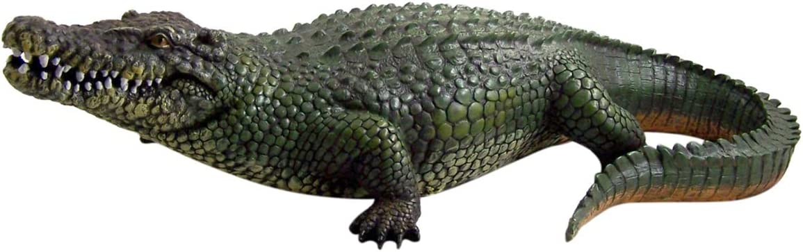 Wowser Realistic Painted Cast Resin Alligator Statue, 20 1/2 Inch