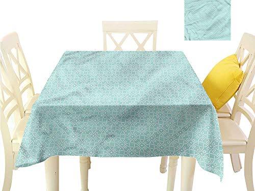 Davishouse Elegance Engineered Tablecloth Aqua Celtic Patterns Indoor Outdoor Camping Picnic W50 x L50