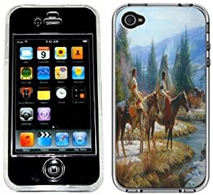 Native American Indians Handmade iPhone 4 4S Full Hard Plastic Case