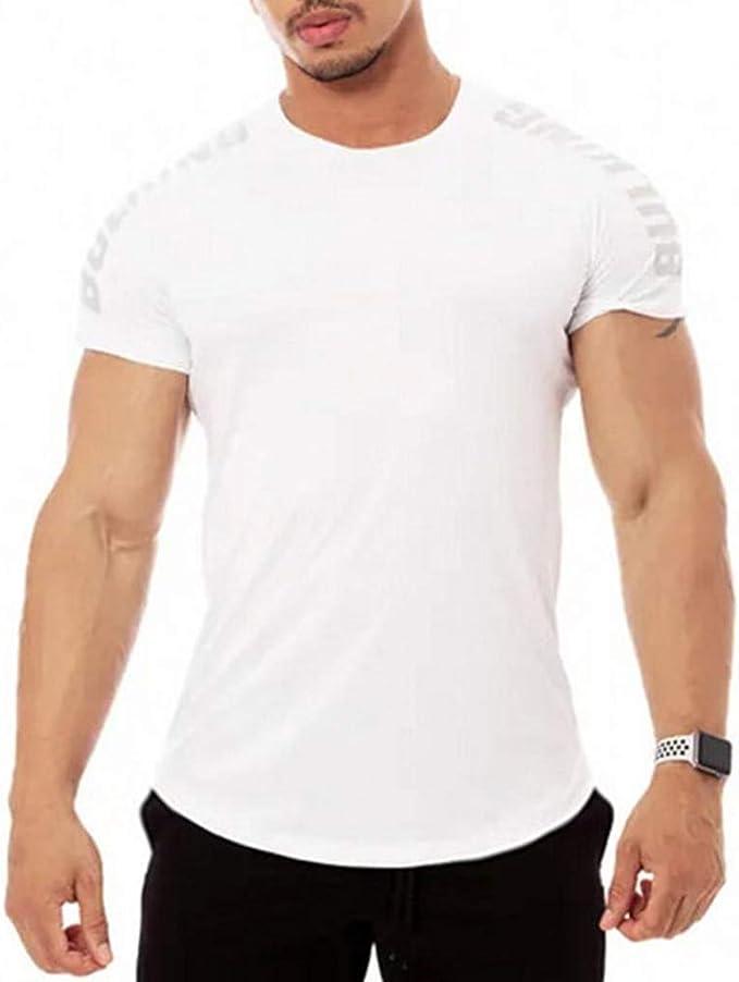 iHENGH Tops,T Shirt Homme, Tight Court de Remise en Forme