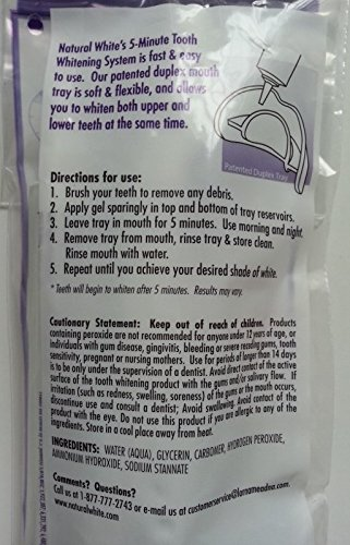 5 Pack Natural White 5-minute Teeth Whitening Kits