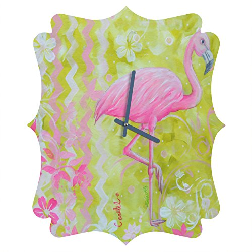Deny Designs Madart Inc., Flamingo Dance, Quatrefoil Clock, Medium by Deny Designs