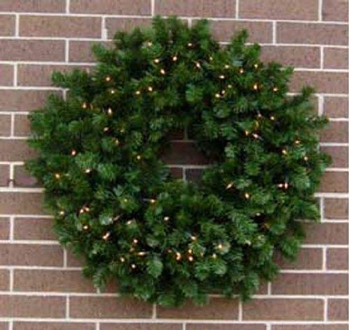 36 inch PreLit Valley Pine Large Holiday Door Wreath [16236B]