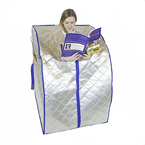 FIR-Real Portable Far Infrared FIR Sauna (Large) with Low EMF Heating Panels by HEALTHandMED