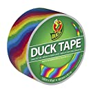 Duck Brand 281496 Printed Duct Tape, Rainbow, 1.88 Inches x 10 Yards, Single Roll
