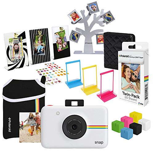 Polaroid Snap Instant Digital Camera (White) Ultimate Gift Bundle