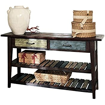 Beautiful Ashley Furniture Signature Design   Mestler Sofa Table   Rustic Style  Entertainment Console   Rectangular