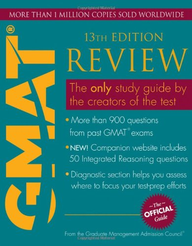 THE OFFICIAL GUIDE FOR GMAT REVIEW, 13TH EDITION