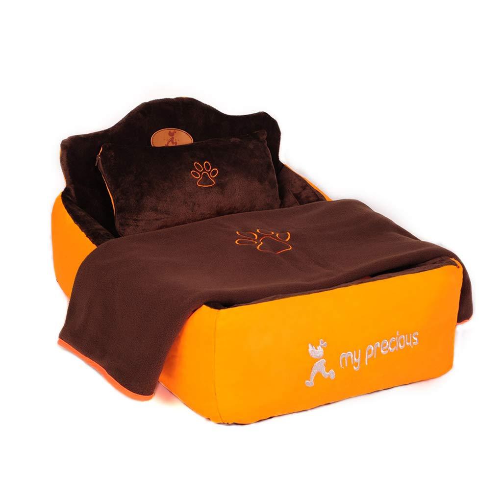 ペット用ベッド犬猫ベッドクッション四季柔らかく暖かいリムーバブルマシン洗えるスクラッチプルーフ用中小ペット (サイズ さいず : 115x85x45cm) B07M5T77LQ  72x55x18cm 72x55x18cm