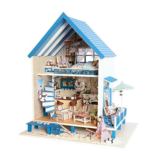 Flever Dollhouse Miniature DIY House Kit Manual Creative With Furniture for Romantic Artwork Gift (Meet In Aegean Sea) [並行輸入品] B078WVLDTJ