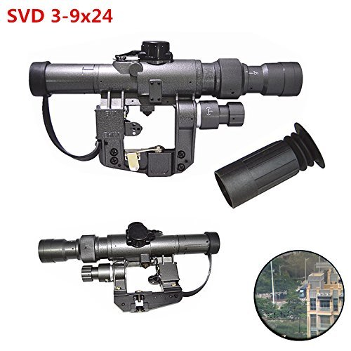 XWXS Dragunov 3-9x24 SVD First Focal Plane Sniper Rifle Scope FFP Illuminated Rangefinding Reticle Scope