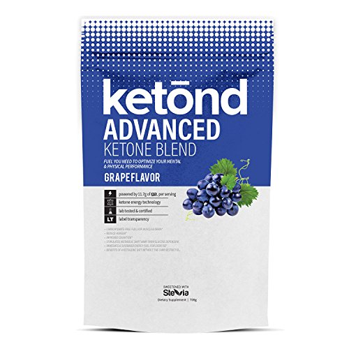 Ketond Advanced Ketone Supplement - 11.7g of goBHB per Serving (30 Servings) - #1 Rated BHB (Beta-HydroxyButyrate) Supplement for Weight Loss, Increased Energy, Focus & Fat Loss (Grape)