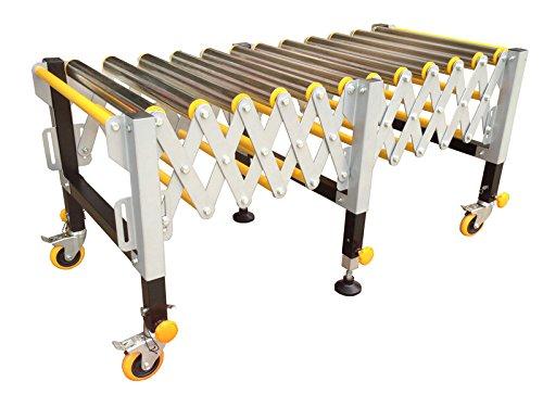 Safety Material Handling Supply Adjustable 12 Roller Stand Transport Warehousing #021256
