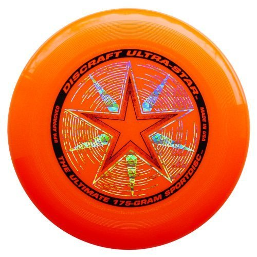 Discraft 175 gram Super Color Ultra-Star Disc. ORANGE by The Discraft Ultra-Star is the standard disc in ultimate. The Discraft Ultra-Star coated in a high r
