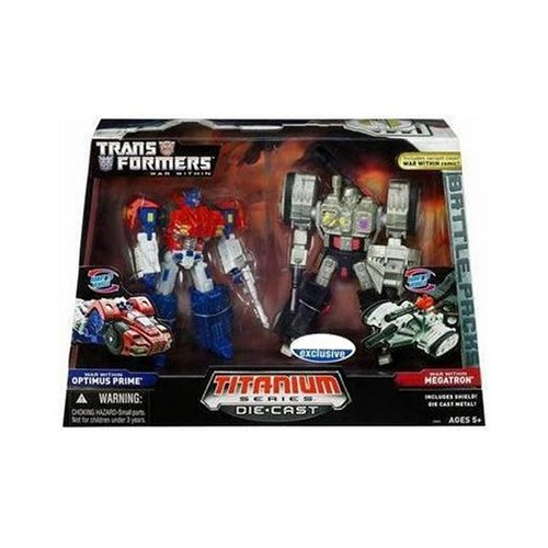 Transformers: Titanium Series War Within Optimus Prime vs. Megatron Action Fi...