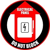 Electrical Panel - Do Not Block Floor Sign Sticker Decal 12'', Red,