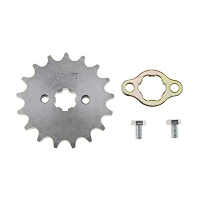 WOOSTAR Front Sprocket 428-17T 17mm for Motorcycle: Automotive [5Bkhe1506110]