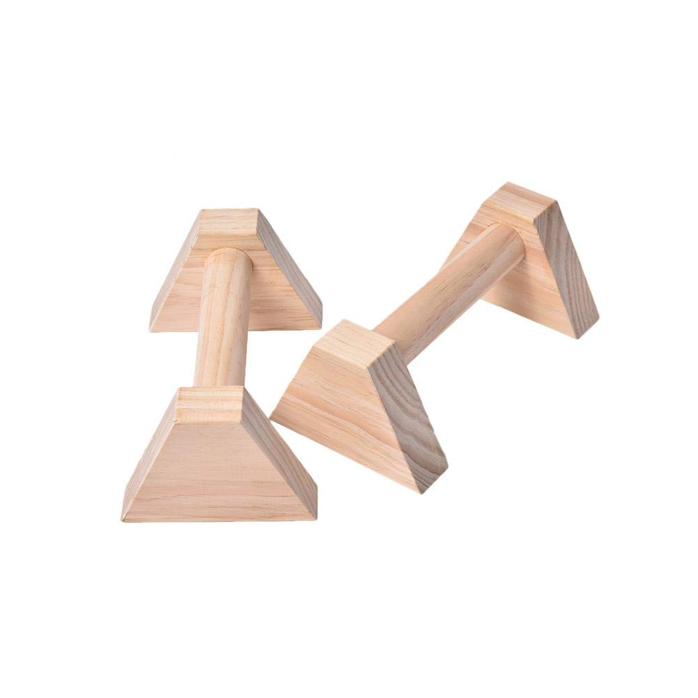 Handstand Russian Style Four-Corner Push-Up Fitness Bracket Pushups 2 Pack Wooden Parallettes for Gymnastics Athletics Muscle Pushup Stands for Men Women