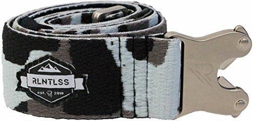 Elastic Stretch Belts for Boys and Girls - Unisex Easy Clip Belt Buckle - Designer, Skater, Golf Belts with Quick Release Belt Buckle for Kids by RLNTLSS (Black Camo)
