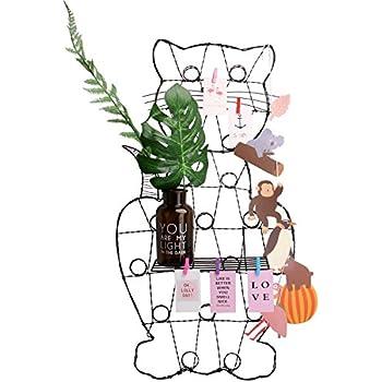 "Hosal Cute Cat Shape Grid Panel, Wall Decor/ Sculptural Frames & Holders/ Wall Display & Organizer, Pack of 1 Pcs, Size: 15.7"" x 30.3"""