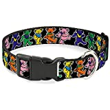 Buckle-Down Plastic Clip Collar - Dancing Bears Black/Multi Color - 1' Wide - Fits 15-26' Neck - Large