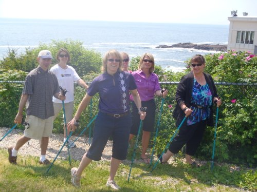 York Nordic Pink Walking Poles - Lightweight, Adjustable, and Collapsible - 2 Poles w/Rubber feet and Travel Bag (Nordic)