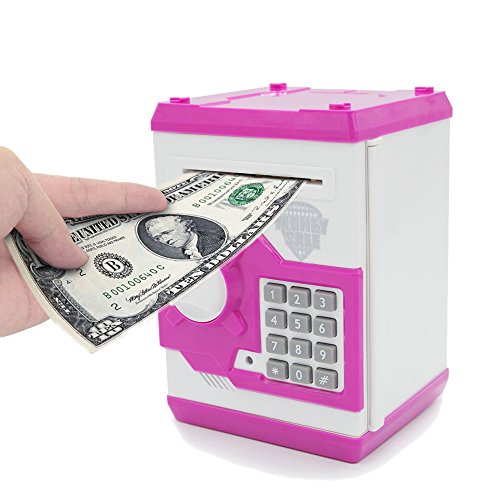 APUPPY Cartoon Password Piggy Bank Cash Coin Can,Electronic Money Bank,Birthday Gifts Toy Gifts for Kids - Cash Out Can You Gift Card A